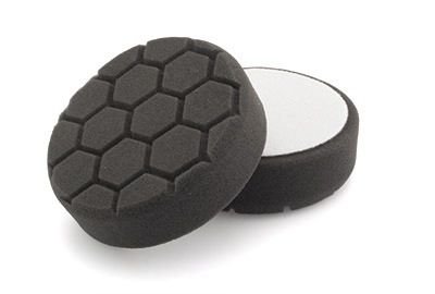 "Flexipads Hex Groove Logic 4"" 100mm Spot Pro-Detail Black Finishing Pad"