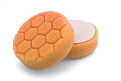 "Flexipads Hex Groove Logic 4"" 100mm Spot Pro-Detail Orange Medium Heavy Cuttting Pad"