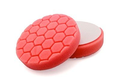 "Flexipads Hex Groove Logic 5.5"" 135mm Pro-Detail Red Ultra Fine Finishing Pad"